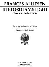 the lord is my light allitsen sheet music