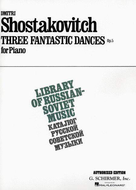 3 Fantastic Dances, Op. 5