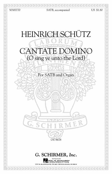 Cantate Domino (Sing Ye Unto the Lord)