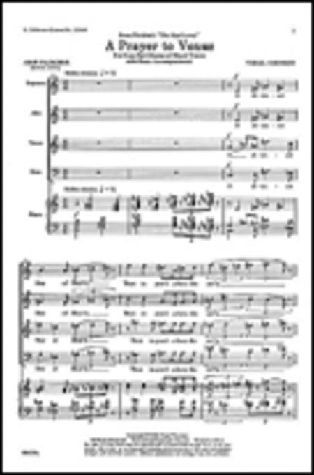 Prayer To Venus - SATB/Piano From Virgil's 'The Mad Lover'