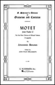 Motet, Op. 29, No. 2 (from Psalm 51)