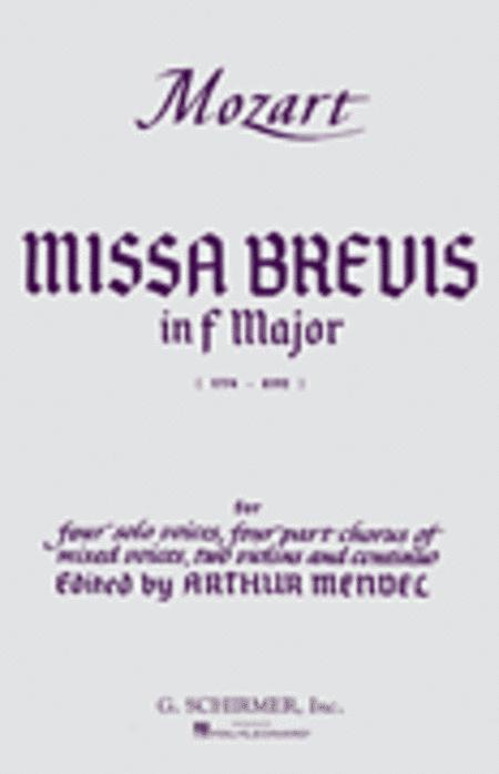Missa Brevis in F, K.192