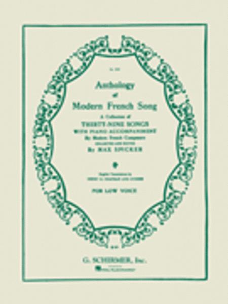 Anthology of Modern French Song (39 Songs)