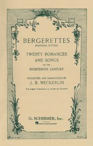 Bergerettes - Pastoral Ditties