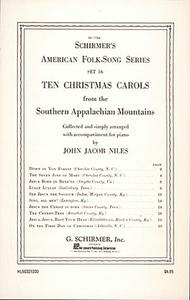 10 Christmas Carols From The Southern Appalachian Mountains