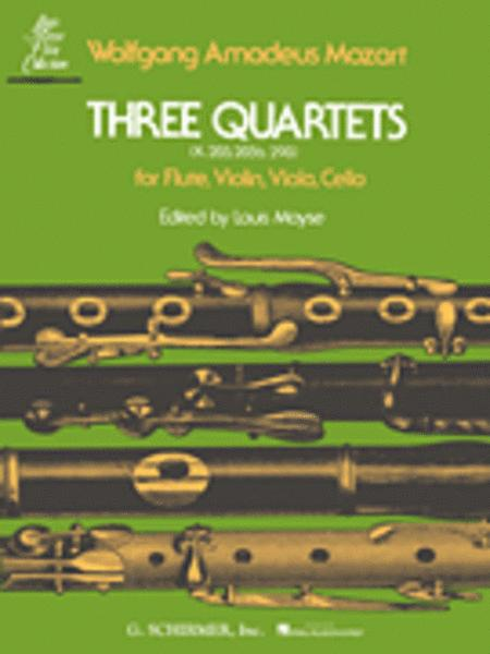 3 Quartets (K.285, K.285b and K.298)