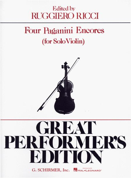 4 Paganini Encores  (Violin)