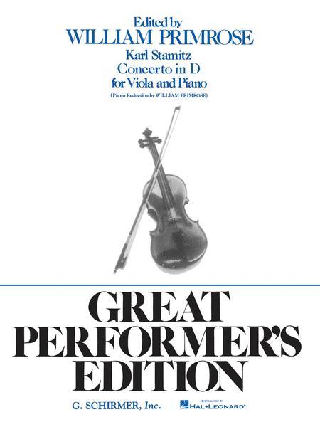Viola Concerto In D, Op. 1 - Viola/Piano