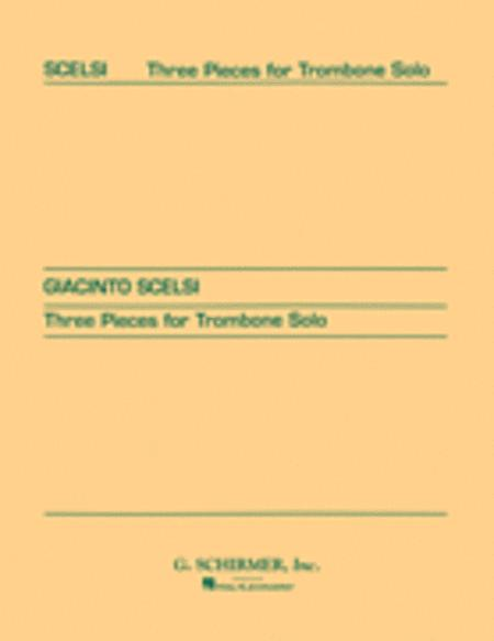 Three pieces for Trombone Solo (1956)