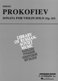 Sonata For Violin Solo, Opus 115