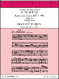 Suite in E Minor BWV996