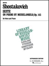 g schirmer suite on verses of michelangelo buonarroti op145 vocal large works series by dmitri shostakovich