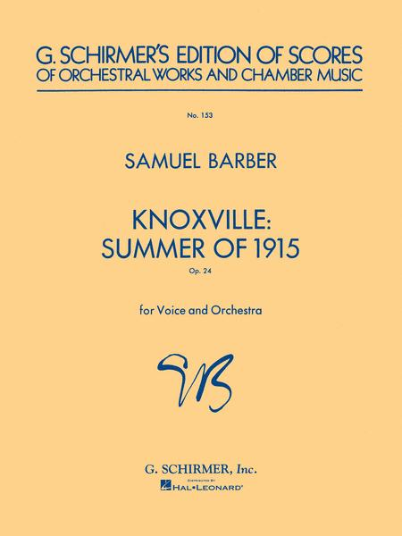 Knoxville: Summer of 1915, Op. 24