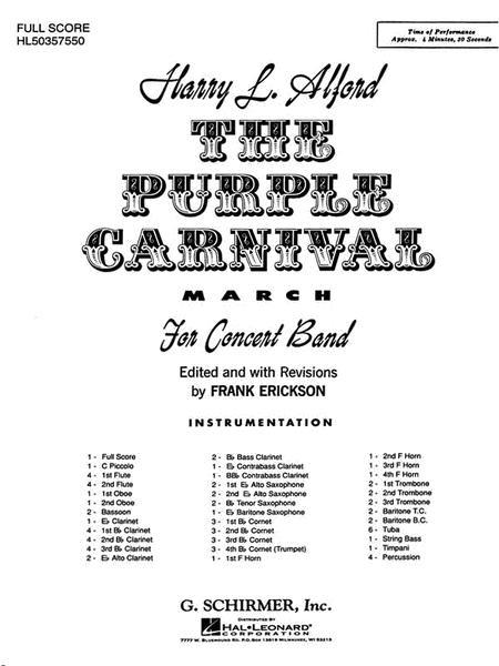 Purple Carnival Bd Full Sc March