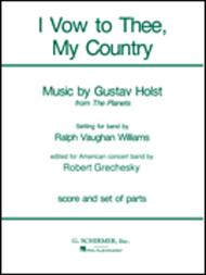 I Vow To Thee My Country Band Full Score