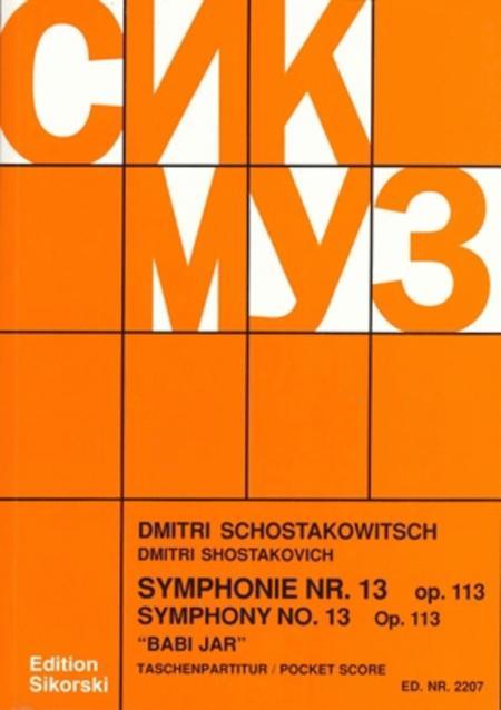 Symphony No. 13, Op. 113 (Babi Yar)