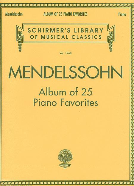 Album Of 25 Piano Favorites