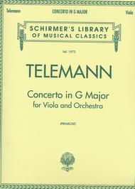 Viola Concerto In G - Viola/Piano
