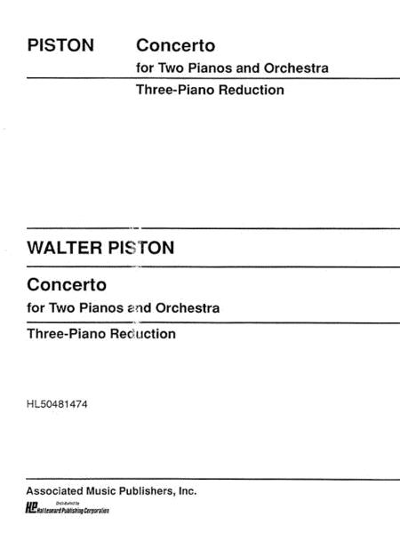 Concerto 2pno/Orch 3pno Red Three Piano Reduction Need 3 Copies To Perform