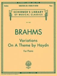Variations On A Theme By Haydn  For The Piano