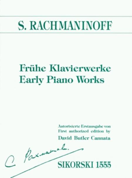 Early Piano Works Nine Pieces With Critical Commentary