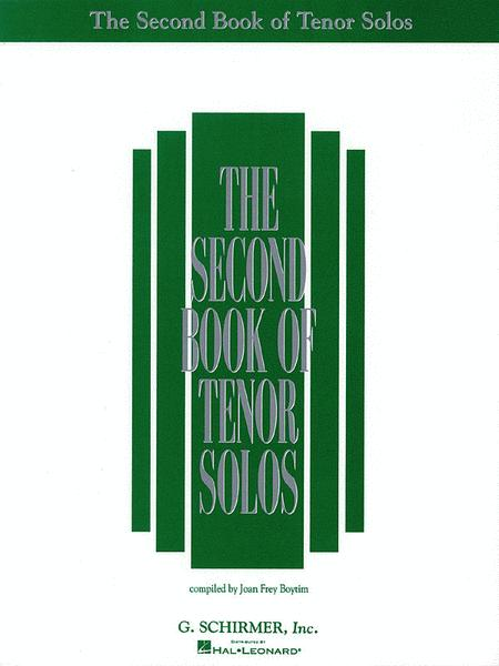 The Second Book of Tenor Solos (Book Only)