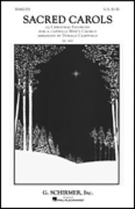 Sacred Carols 23 Christmas Favorites For A Cappella Mens Chorus