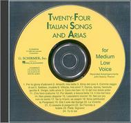 24 Italian Songs & Arias Of The 17th & 18th Centuries - Medium Low  Voice - CD Only