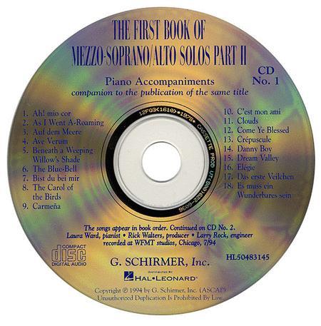 The First Book of Mezzo-Soprano/Alto Solos - Part II (Accompaniment CDs)