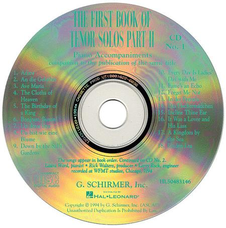 The First Book of Tenor Solos - Part II (Accompaniment CDs)
