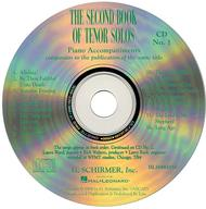The Second Book of Tenor Solos (Accompaniment CDs)