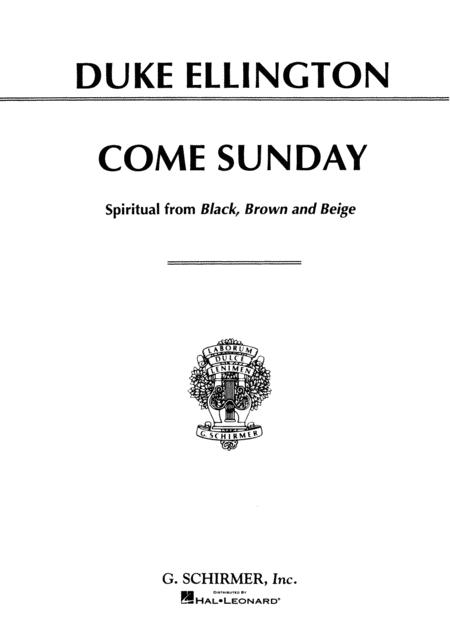 Come Sunday (from Black, Brown and Beige)