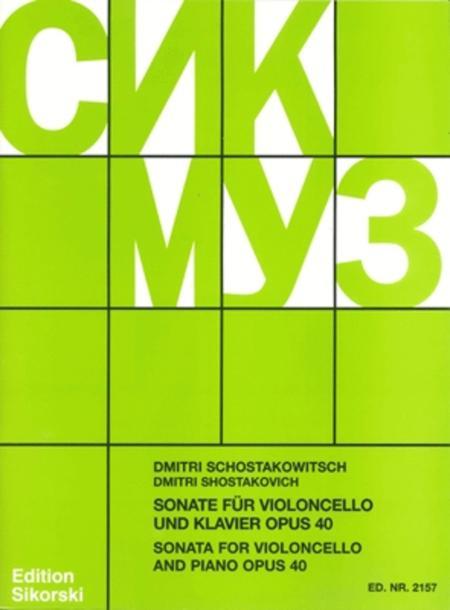 Sonata for Cello and Piano, Op. 40