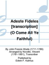 Adeste Fideles [transcription] (O Come All Ye Faithful)