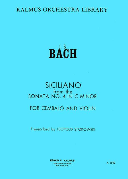 Siciliano [Sonata No. 4 for Violin and Harpsichord in C-minor, BWV 1017: Siciliano]
