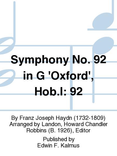 Symphony No. 92 in G 'Oxford', Hob.I: 92