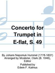 Concerto for Trumpet in E-flat, S. 49