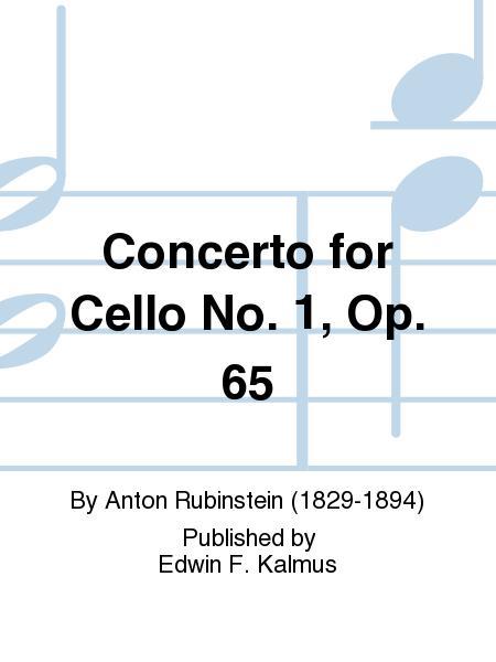 Concerto For Cello No  1, Op  65 Sheet Music By Anton