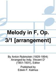 Melody in F, Op. 3/1 [arrangement]
