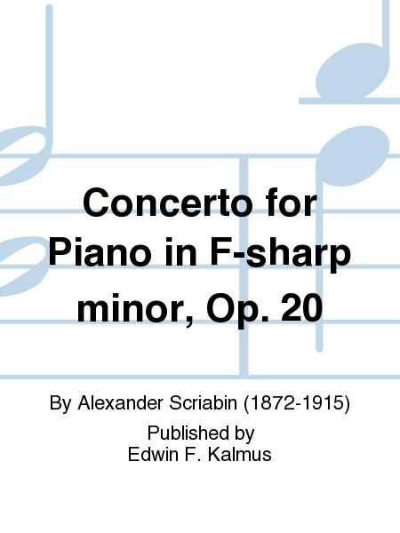 Concerto for Piano in F-sharp minor, Op. 20