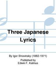 Three Japanese Lyrics