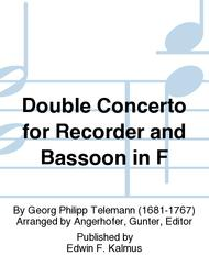 Double Concerto for Recorder and Bassoon in F