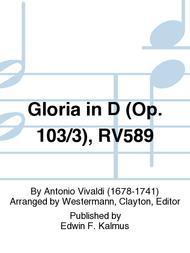 Gloria in D (Op. 103/3), RV589