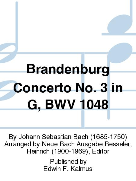 Brandenburg Concerto No. 3 in G, BWV 1048