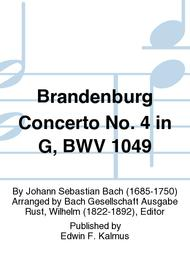 Brandenburg Concerto No. 4 in G, BWV 1049