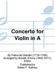 Concerto for Violin in A