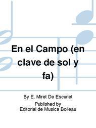 En El Campo En Clave De Sol Y Fa Sheet Music By E Miret De