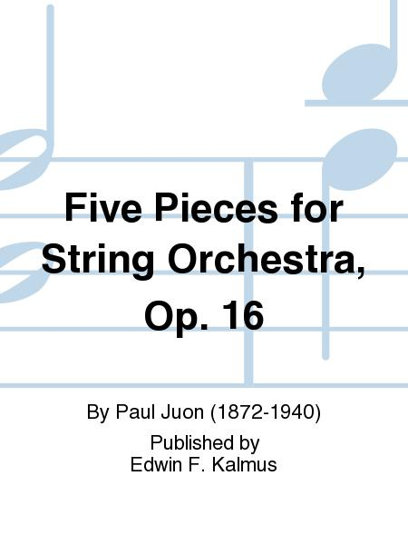 Five Pieces for String Orchestra, Op. 16