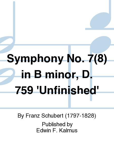 Symphony No. 7(8) in B minor, D. 759 'Unfinished'