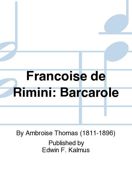 Francoise de Rimini: Barcarole